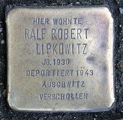 Photo of Ralf Robert Lipkowitz brass plaque