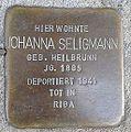 Stolperstein Windeck Rosbach Kirchstraße Johanna Seligmann.jpg