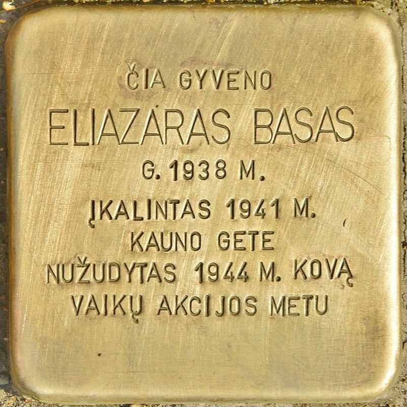 Stolperstein für Elizaras Basas (Kaunas).jpg