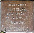 Stumbling block for Rosi Ginzel (Sternengasse 48)