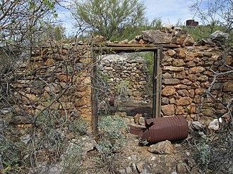 San Xavier, Arizona - Image: Stone Building San Xavier Arizona 2014