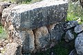 Stones used in constructing wall of house, Umm er-Rus.jpg