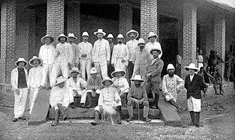 Kisangani - Europeans at Stanleyville in 1902