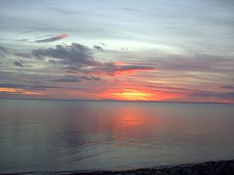 Strait of Magellan - Image: Strait of magellan dawn
