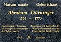 Strasbourg-34 quai des Bateliers-Plaque d'Abraham Dürninger.jpg