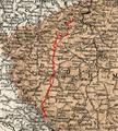 Streckennetz der Eisenbahn Pilsen–Priesen(–Komotau).png