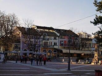 Lovech - Buildings along the Osam