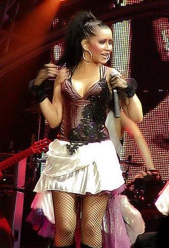 Stripped (Christina Aguilera album) - Aguilera performing in July 2003