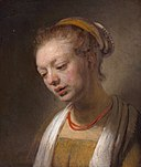 Style of Rembrandt - Young Woman with a Red Necklace.jpg