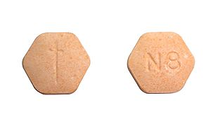 English: Suboxone tablet - both sides.