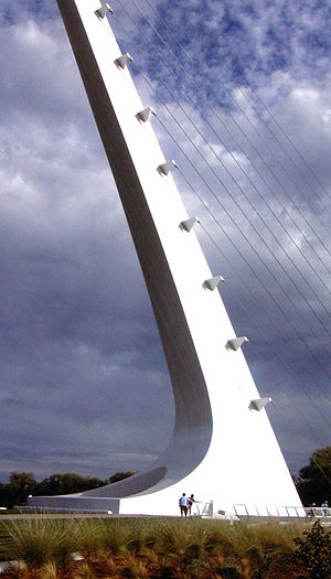 Sundial Bridge at Turtle Bay - The support tower of the bridge.