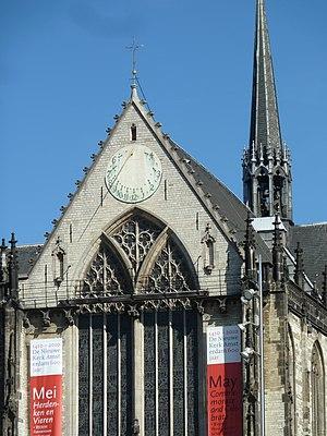 Nieuwe Kerk, Amsterdam - Image: Sundial on church