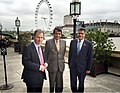 Suresh Prabhakar Prabhu with the Chancellor of the Duchy of Lancaster and Minister in charge of Cabinet Affairs, UK, Mr. Oliver Letwin and the Member of Parliament for Reading West, United Kingdom, Shri Alok Sharma.jpg