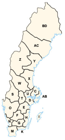 Counties of Sweden