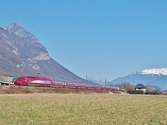 Thalys - Image: TGV Thalys dans la Combe de Savoie (hiver 2017)