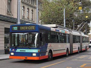 Trolleybuses in Geneva - Image: TPG721