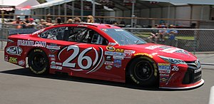 BK Racing - Jeb Burton at Sonoma in 2015.