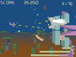 ABA Games -  Tumiki Fighters, a side-scrolling shooter, was remade as Blast Works: Build, Trade, Destroy for the Wii console.