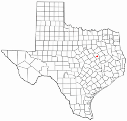 Location of Groesbeck, Texas