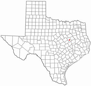 Groesbeck, Texas - Image: TX Map doton Groesbeck