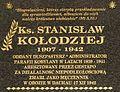 Tablica ks.StanislawKolodziej Kobylany.JPG