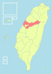 Location of Taichung County in Taiwan