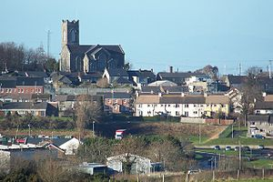 Tandragee - St Mark's Church overlooking part of Tandragee