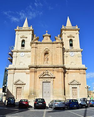 Annunciation Church, Tarxien - Image: Tarxien Parish Church