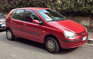 Tata Motors - The first-generation(1998–07) Tata Indica.