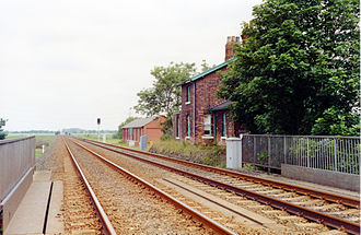 Temple Hirst railway station - The former station in 1992