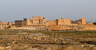 Arabs - The ruins of Palmyra. The Palmyrenes were a mix of Arabs, Amorites and Arameans.