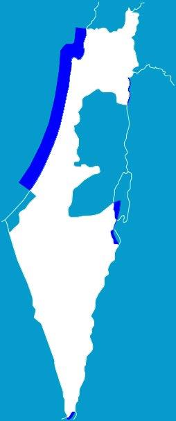 Territorial waters of Israel