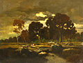Théodore Rousseau Dusk in a forest.jpg