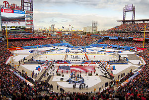 2012 NHL Winter Classic - The opening ceremony of the 2012 NHL Winter Classic at Citizens Bank Park, Philadelphia, PA.