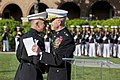 The 35th Commandant of the Marine Corps, Gen. James F. Amos, right, speaks with Gen. George J. Flynn during Flynn's retirement ceremony at Marine Barracks Washington in Washington, D.C., May 9, 2013 130509-M-LU710-309.jpg