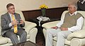The Ambassador of Israel to India, Mr. Daniel Carmon calling on the Union Minister for Civil Aviation, Shri Ashok Gajapathi Raju Pusapati, in New Delhi on November 11, 2014.jpg