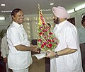 The Chief Minister of Punjab Captain Amrinder Singh calls on the Union Minister for Shipping, Road Transport and Highways, Shri T.R. Baalu in New Delhi on April 26, 2005.jpg