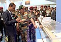 The Chief of Army Staff, General Bipin Rawat visiting the Defence Research and Development Organisation (DRDO) stall, at the Aero India- 2019, at Air Force Station Yelahanka, Bengaluru on February 21, 2019.jpg