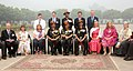 The Chief of Army Staff and President Gorkha Brigade, General Bipin Rawat in a group photograph with the family members of British Gorkha Officers of 9 GR, during 9 GR Bicentenary Celebrations, at 39 Gorkha Training Centre.jpg