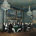 The Duke of Orleans signing the proclamation of the Lieutenant Generalship of the Kingdom, Paris 1830.jpg