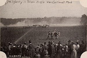 107th Infantry Regiment (United States) - Sham battle in the Bronx, about 1890