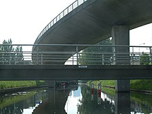 The Hague Bridge GW 314 Hubertusviaduct (12) and GW 347 Voetbrug Koninginnegracht (08).JPG