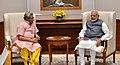 The Head of All World Gayatri Pariwar, Dr. Pranav Pandya calls on the Prime Minister, Shri Narendra Modi, in New Delhi on September 06, 2018.JPG