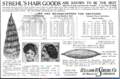 The Illustrated Milliner, Volume 7, 1906 advertisement - Strehl's Hair Goods.png