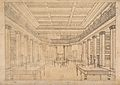The London Institution; the interior of the library. Drawing Wellcome V0013225.jpg
