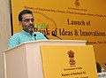 The Minister of State for Rural Development, Panchayati Raj, Drinking Water and Sanitation, Shri Upendra Kushwaha addressing at the inauguration of the National Conference of 'Bank of Ideas and Innovations', in New Delhi.jpg