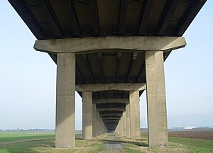 Ouse Bridge (M62) - View from underneath