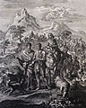 The Phillip Medhurst Picture Torah 79. Abraham and Lot. Genesis cap 13 v 1. Jan and Caspar Luyken.jpg