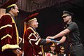 The President, Shri Pranab Mukherjee presented the degrees at the convocation ceremony of the passing out Engineering Graduate Courses of the College of Military Engineering, Pune, in Maharashtra.jpg