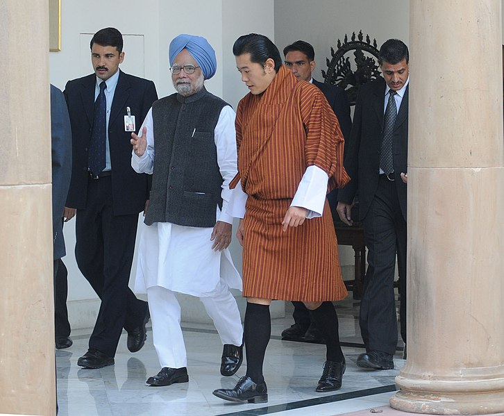 File:The Prime Minister, Dr. Manmohan Singh with the King of Bhutan, HM Jigme Khesar Namgyel Wangchuck, in New Delhi on December 22, 2009.jpg